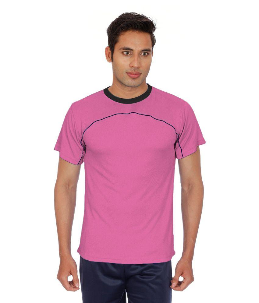 Sportee Pink Polyester T-Shirt