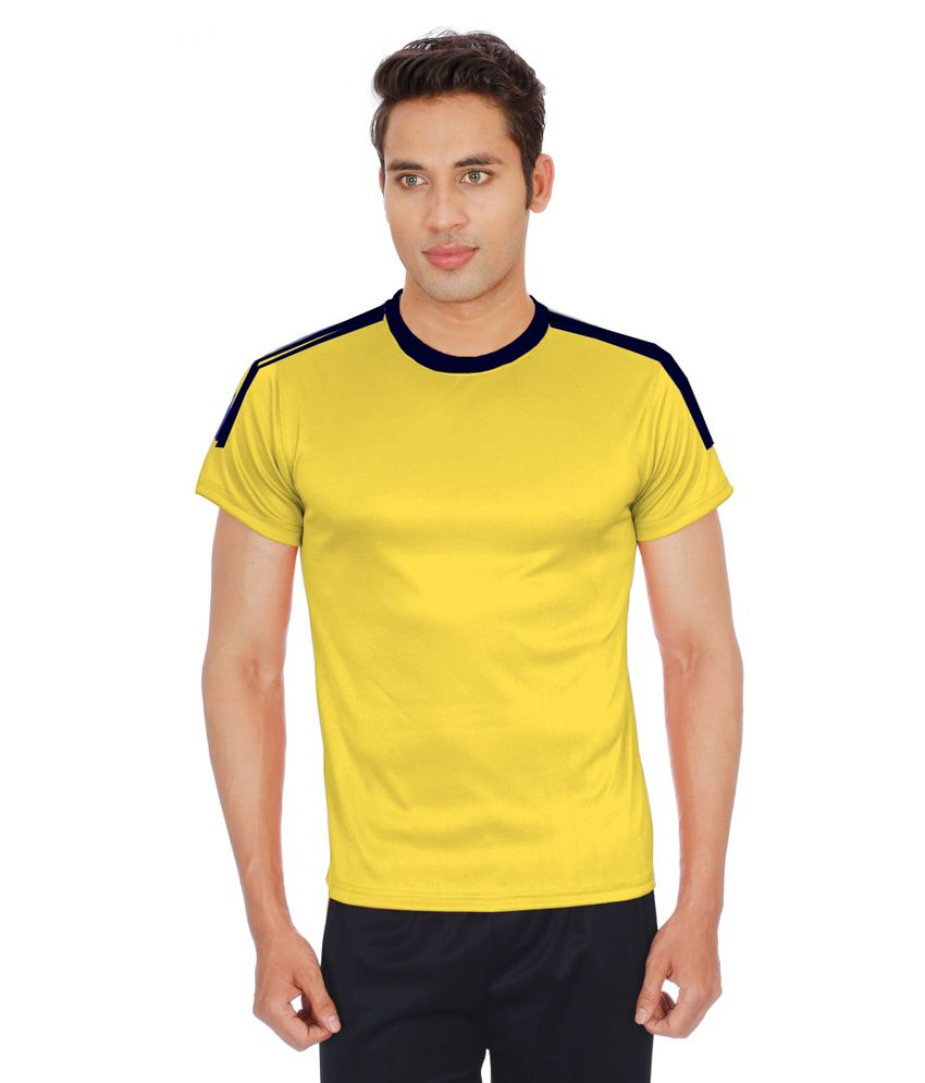 Sportee Yellow Polyester T-Shirt