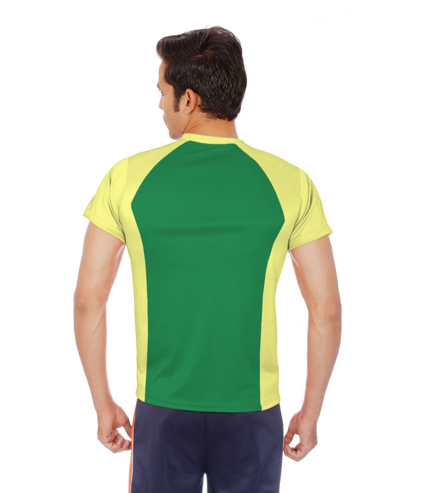 9c9da9a9 Sportee Yellow and Green Polyester Sports T-Shirt - Buy Sportee Yellow and Green  Polyester Sports T-Shirt Online at Low Price in India - Snapdeal