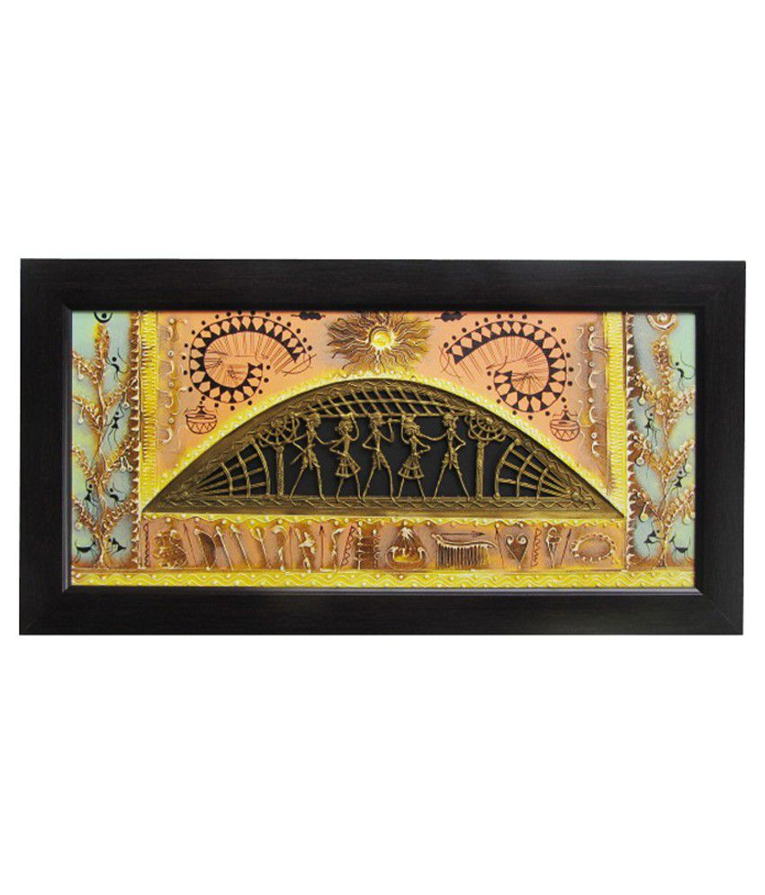 Annapurna International Wall Painting with Frame - Set of 2