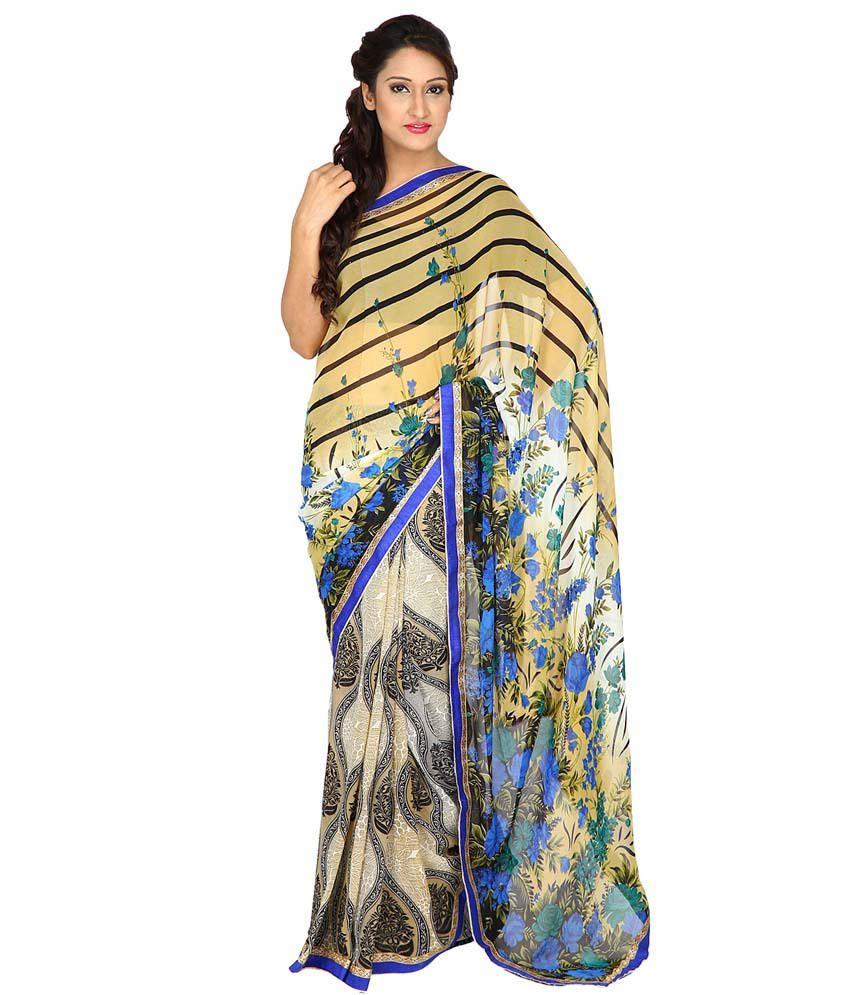 Mahi-Shree Ganesh Multicoloured Georgette Saree