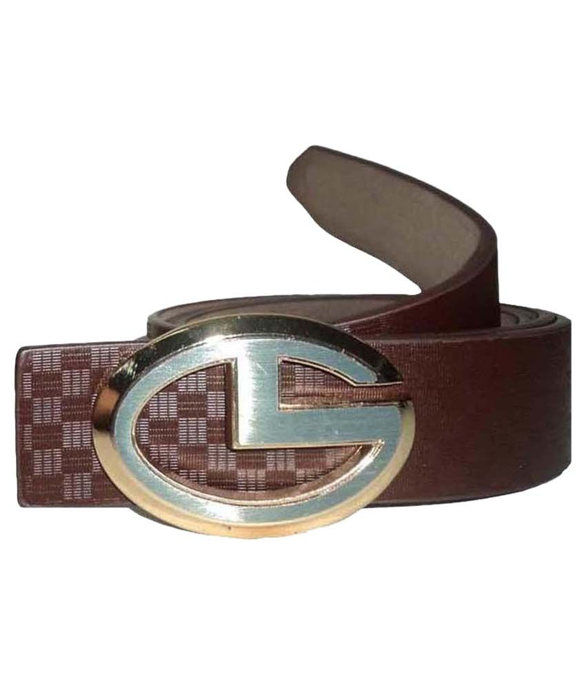 Mode Genuine Leather  Casual Brown Color  Autolock Buckle Belt For Men