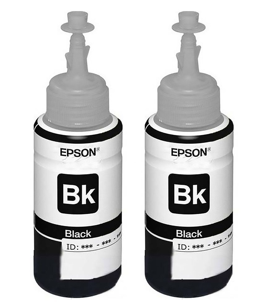 Epson T6641 Black Toner For Epson L100/L110/L200/L210/L300/L350/L355/L550 - Pack Of 2(70 ml each)