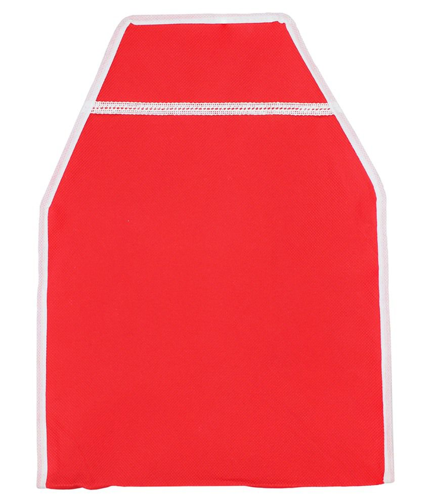 Mpkart Red Canvas Blouse Cover - Set Of 3