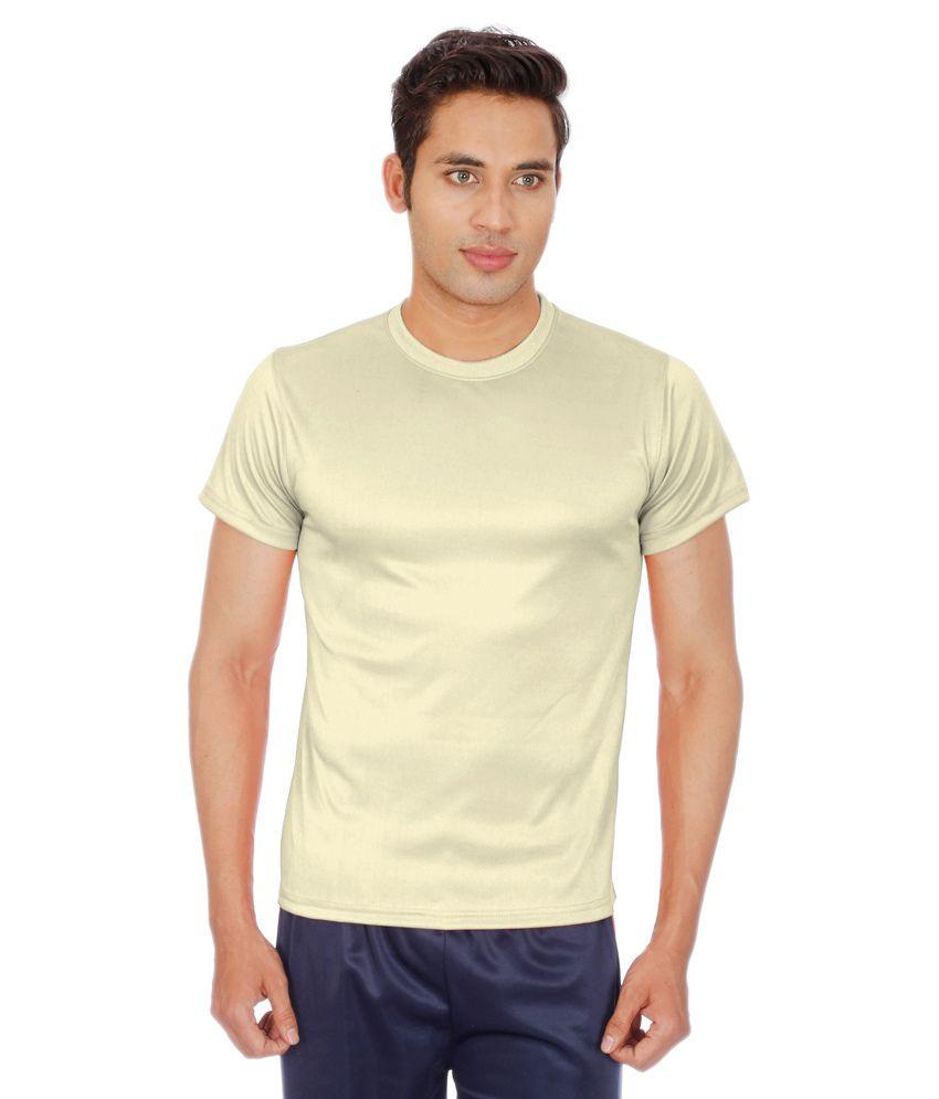 Sportee Tan Polyester T-Shirt