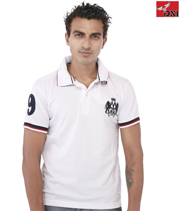 DXI White Cotton T-Shirt