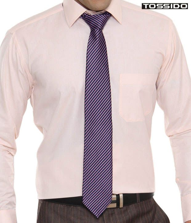 Tossido Striped Pink & Blue Tie