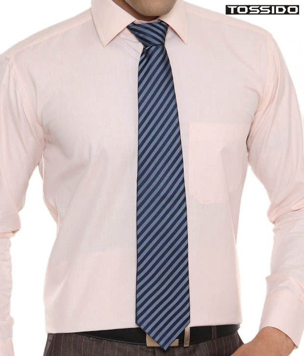 Tossido Exclusive Blue Striped Tie