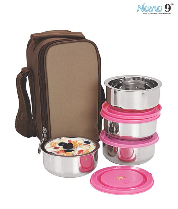 Nanonine Insulated Lunch Box Set 4 Pcs Buy Online At