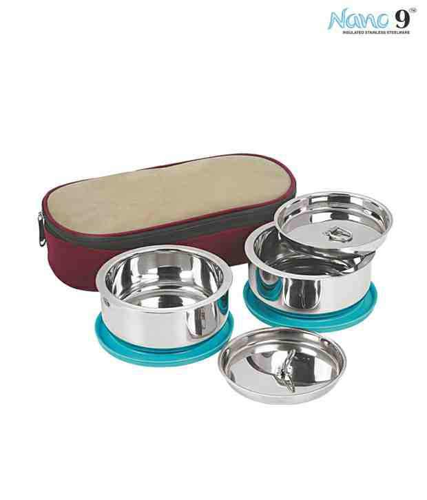 NanoNine Insulated Lunch Box Set (2 Pcs)