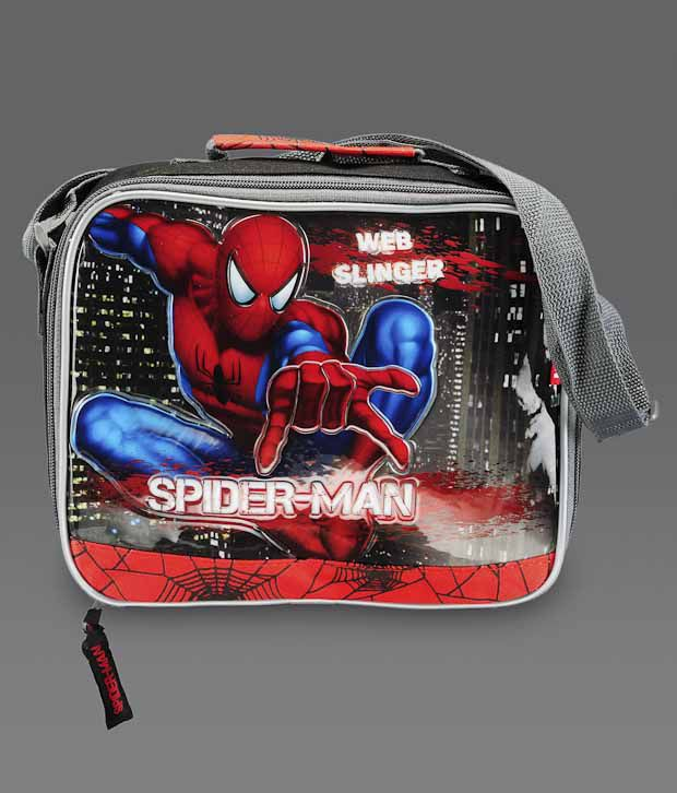 Spiderman Black and Red Small Lunch Bag