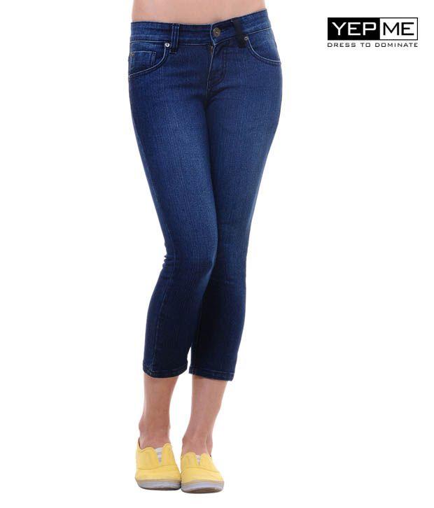 Yepme Indigo Blue Cotton Jeans
