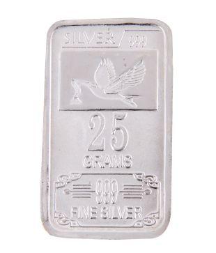 Shanti Auspicious 25 Grams Silver Coin