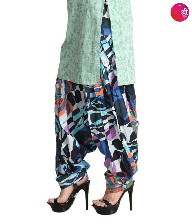 Shree Designer  Blue Patiala Salwar