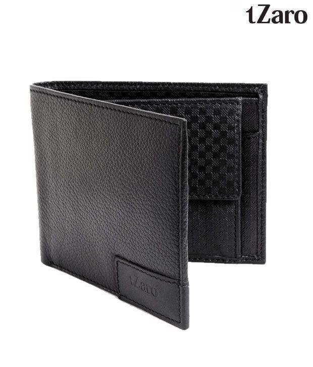 Tzaro Rugged Black Inside Check Wallet