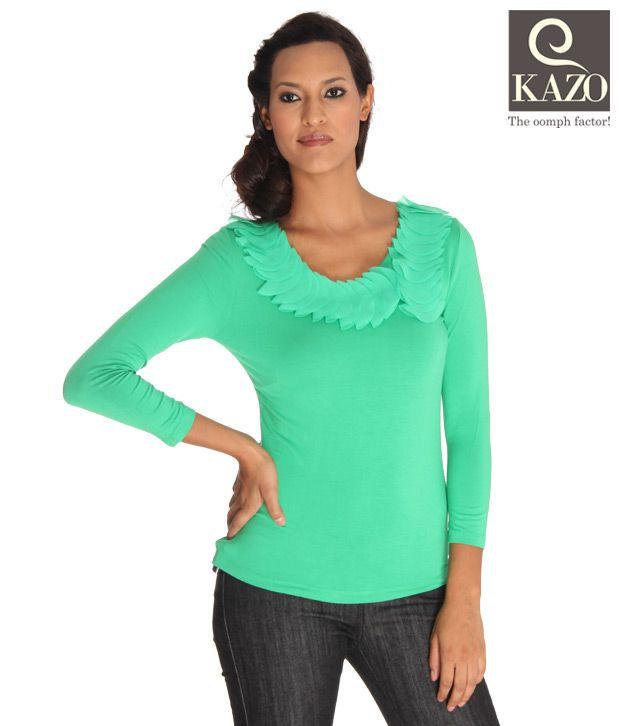 Kazo Smart Green Designer Top