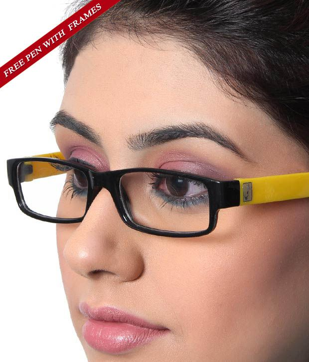 SD Alluring Black & Yellow Eyewear & Free Pen Worth 199