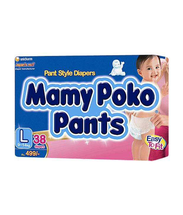 MamyPoko Pants L Size 38 Diapers Pack