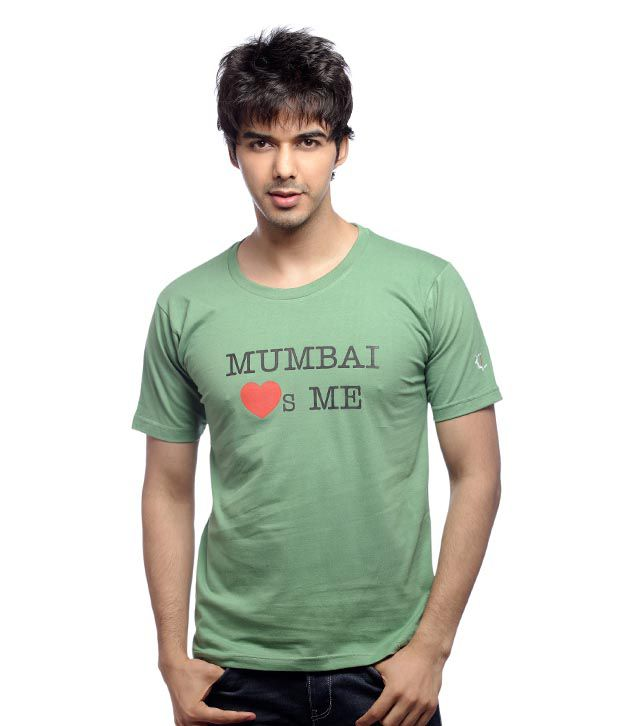 Inkfested Men's Mumbai Loves Me Green T-shirt