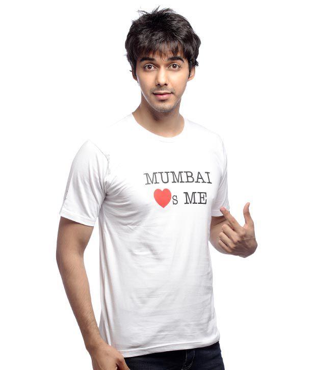 Inkfested Men's Mumbai Loves Me White T-shirt