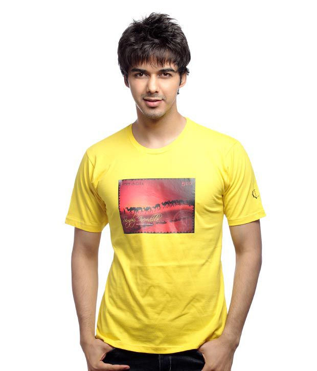 Inkfested Men's Rajasthan Yellow T-shirt