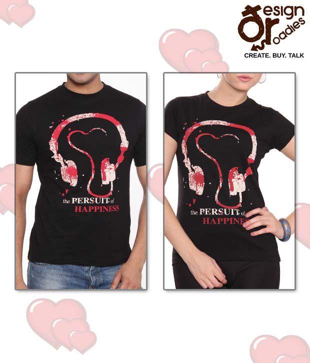 Design Roadies Classic Black T-Shirt Combo of 2