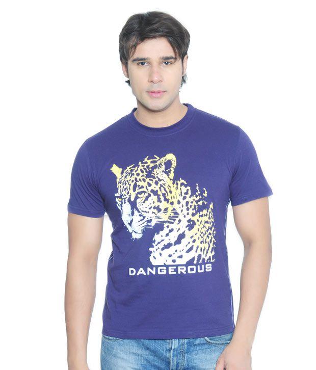 Vvoguish Dangerous Royal Blue T-Shirt