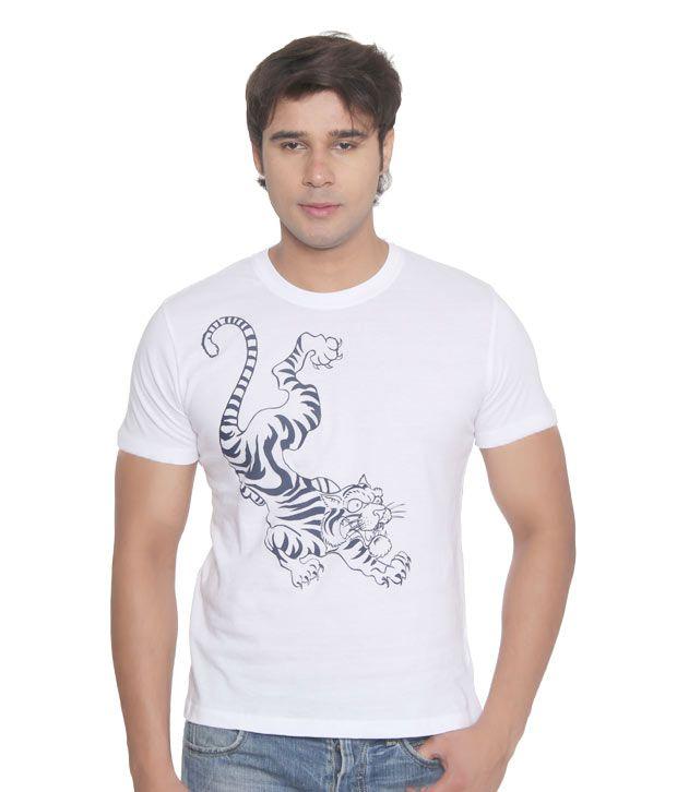 Vvoguish White Tiger T-Shirt