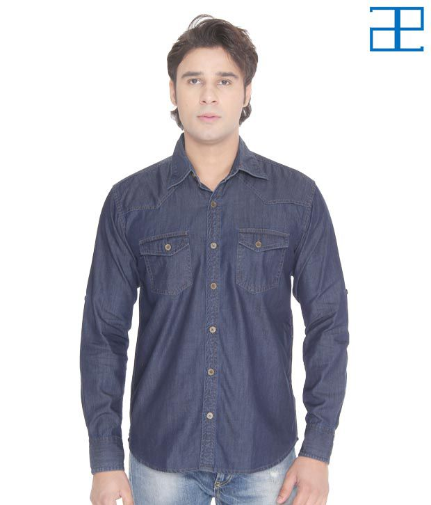 Adam n Eve Awesome Denim Casual Shirt