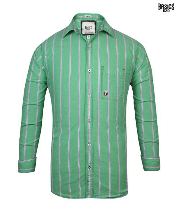 BASICS 029 Shirt 11BSH25324-GR-LS