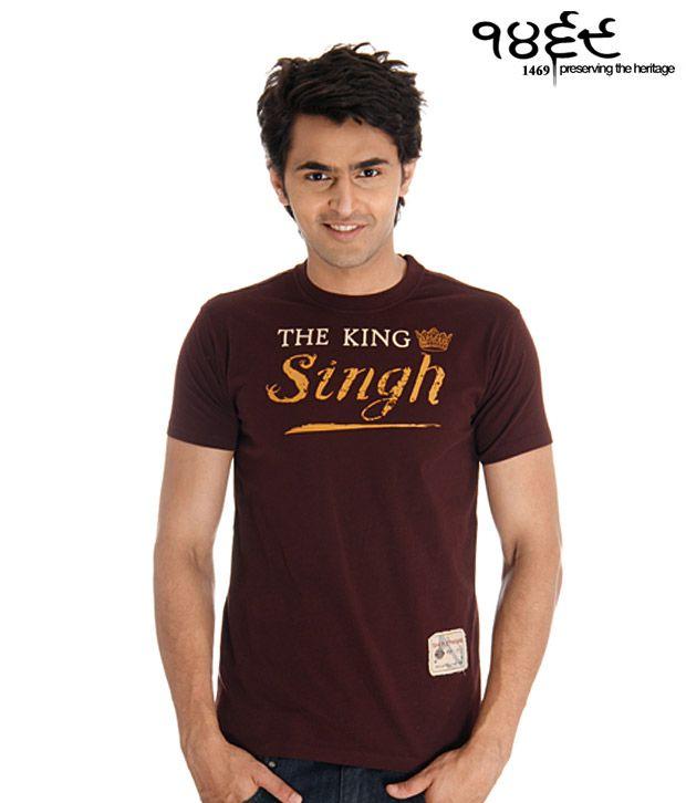 1469 Wine & Yellow The Singh King T-Shirt
