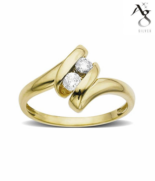 AG Alluring Diamond Ribbon Ring
