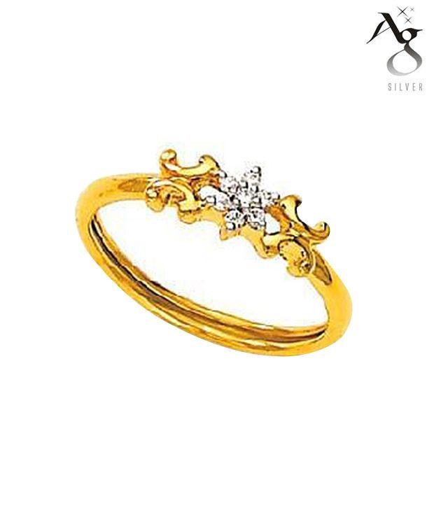 AG Traditional Diamond Flower Shape Ring