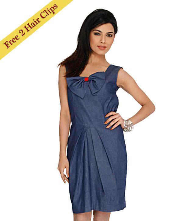 ANS Blue Bow Dress