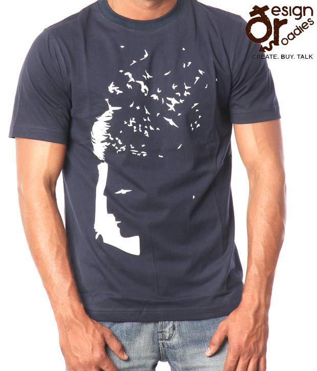 Design Roadies Freedom Navy Blue T-Shirt