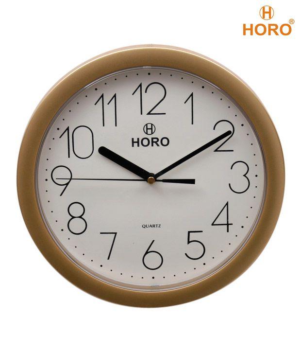 Horo Golden Border Round Wall Clock