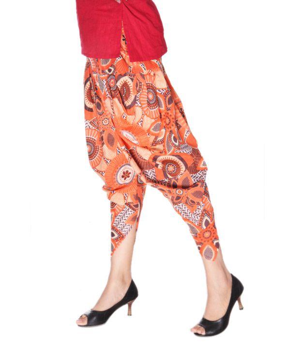 schöner Stil im Angebot am besten wählen Klamotten Orange Printed Jodhpuri Salwar Price in India ...