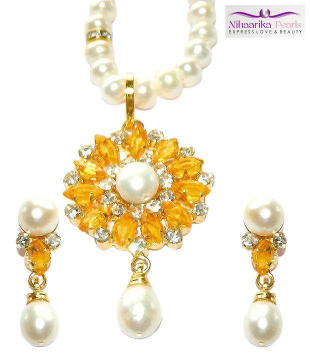 Niharikaa Pearls Radiant Necklace Set Buy Niharikaa