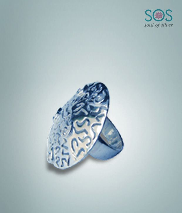 Soul of Silver Stunning Disc Shaped Ring