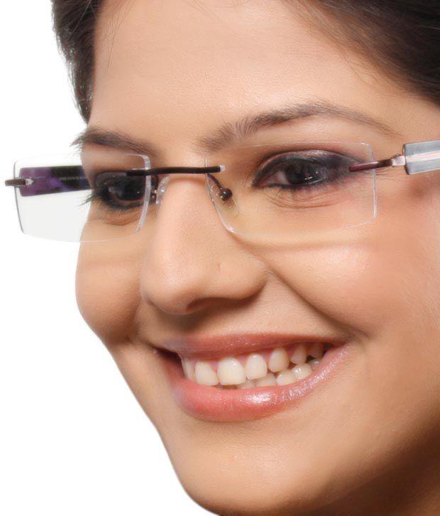 Extro Sleek Brown Rimless Eyewear