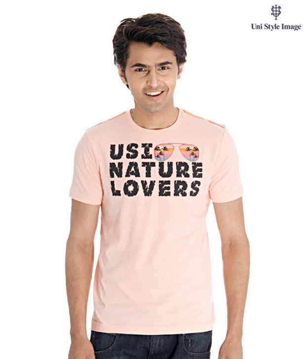 USI Peach Nature Lover T-Shirt