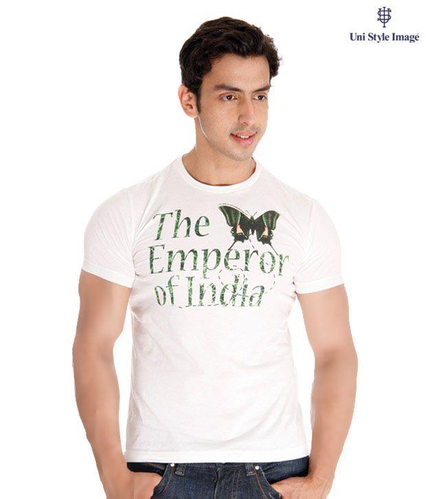USI White Calligraphic T-Shirt