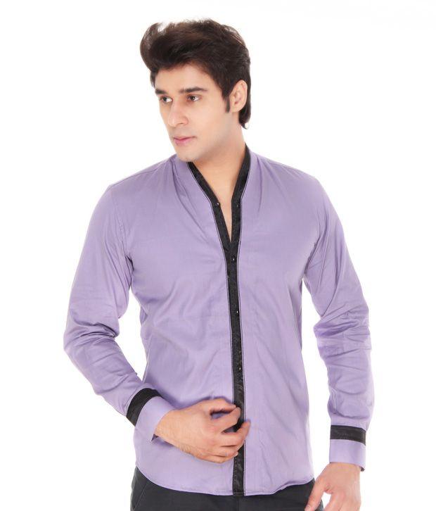 Varah Mauve Linen Shirt