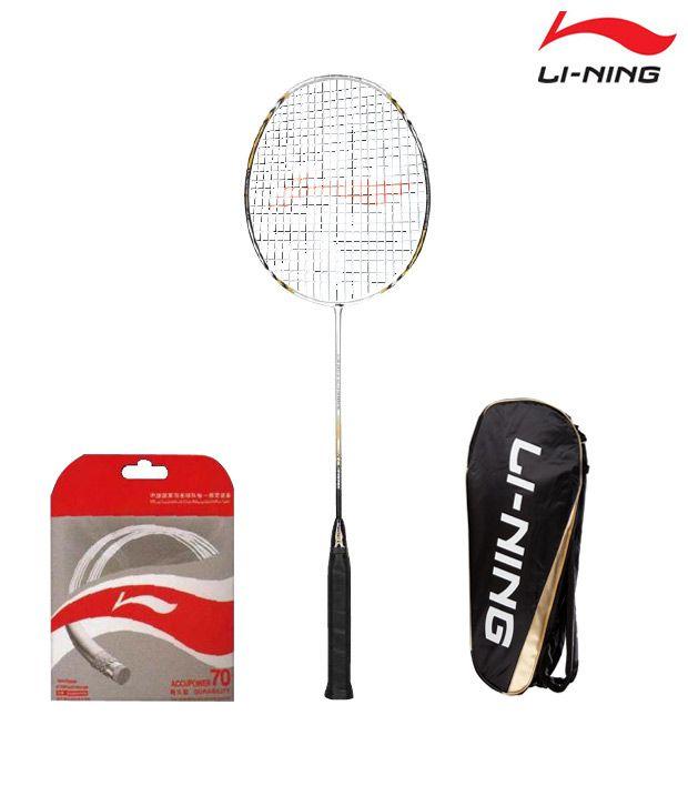 Li-Ning UC 3100 Badminton Racket + Li-Ning String AP-70 + Li-Ning Kit Bag ABJF076 - 9 in 1