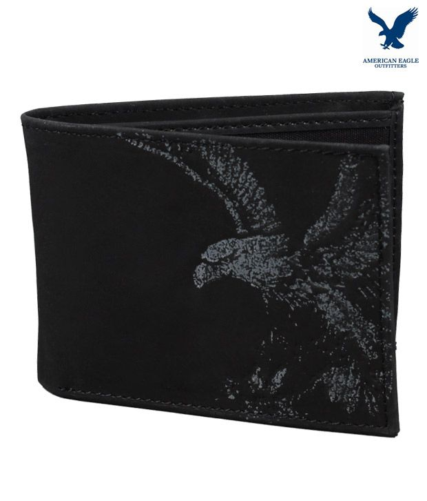 980bf91f321 American Eagle Black Printed Wallet  Buy Online at Low Price in India -  Snapdeal