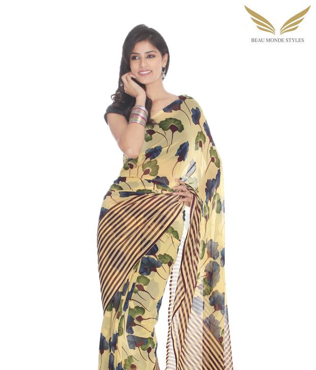 Beau Monde Multicoloured Georgette Saree