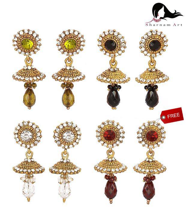 Sharnam Art Glittering Earring Combo