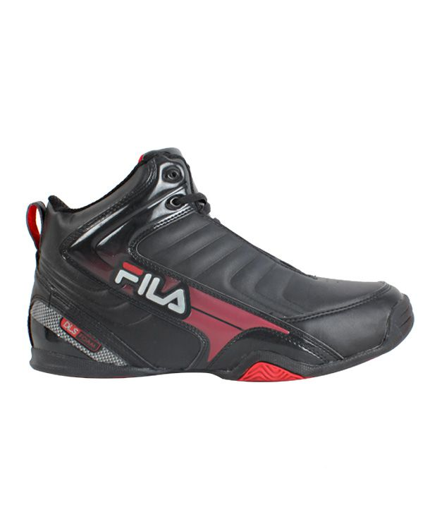 f44a117470f5 Fila Black High Ankle Basketball Shoes Fila Black High Ankle Basketball  Shoes ...