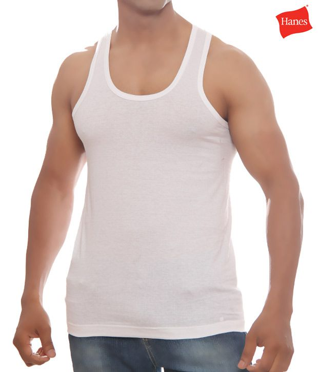 Hanes Pack Of Two White Vests