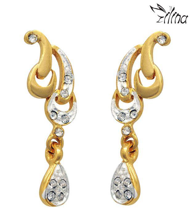 Ilina Ravishing Golden Drops Earrings